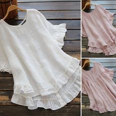 blouse, Summer, Cotton, blousesforwomen
