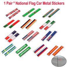 Car Sticker, 3dnationalflagcarmetalsticker, nationalflag, caremblem