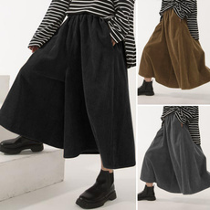 baggyskirt, long skirt, corduroyskirt, looseskirt