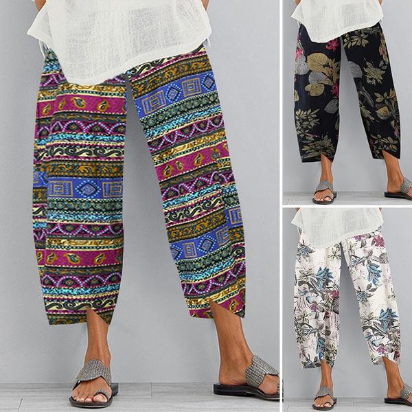 Summer, fashiontrouserswomen, casualtrouser, Waist