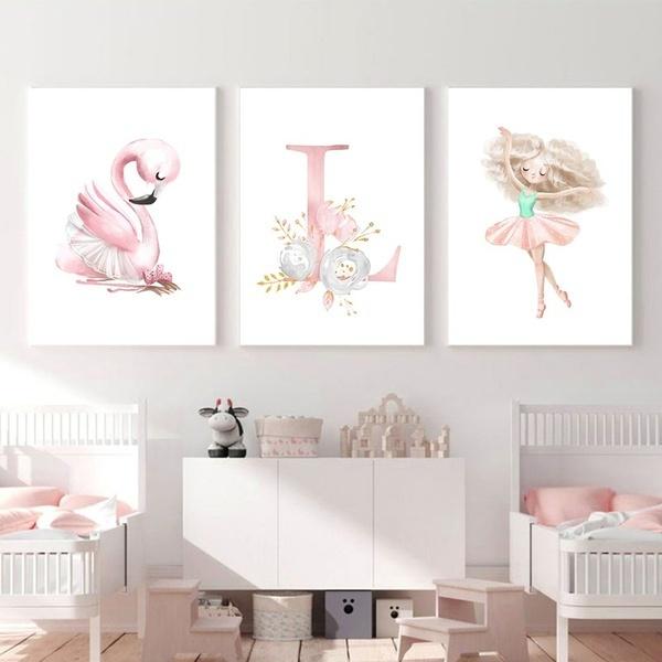 art print, pink, Ballet, art
