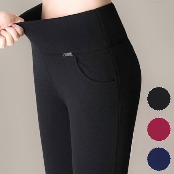 Fashion, high waist, pants, stretch