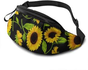 Beautiful, runningwaistpack, casualfannypack, Sunflowers