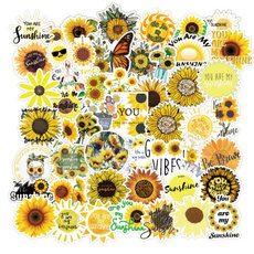 case, Car Sticker, Sunflowers, Waterproof