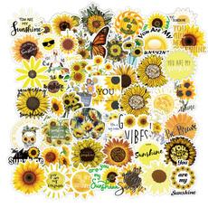 case, Car Sticker, Sunflowers, Waterproof