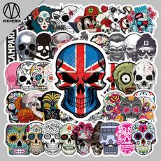 Car Sticker, suitcasesticker, skull, halloweensticker