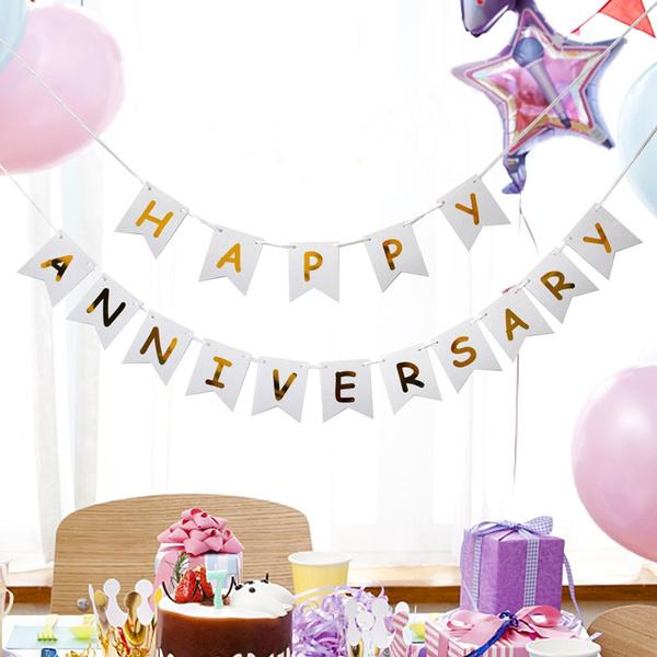 partybanner, Garland, anniversarypartysupplie, happyanniversarybanner