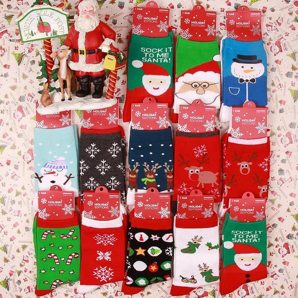 snowman, Cotton Socks, Christmas, newyear