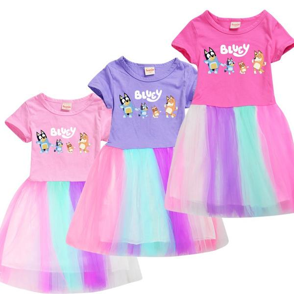 kids clothes, Summer, girls dress, short sleeve dress
