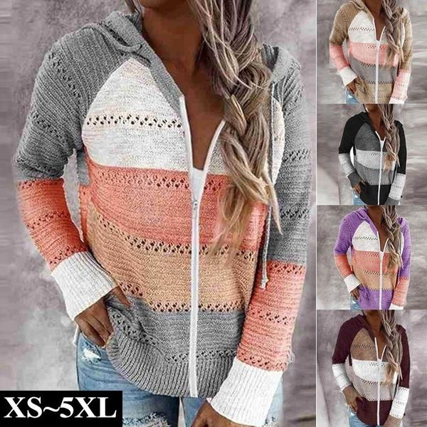 Jacket, hooded, sweatercardigan, Coats & Outerwear