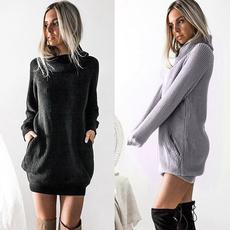 Fashion, sweater dress, Winter, Sleeve