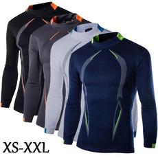 Mens T Shirt, Necks, Sleeve, Fitness