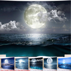 Wall Art, seamoon, psychedelictapestry, Moon