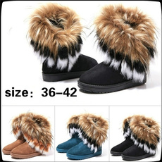 ankle boots, Moda, fur, leather