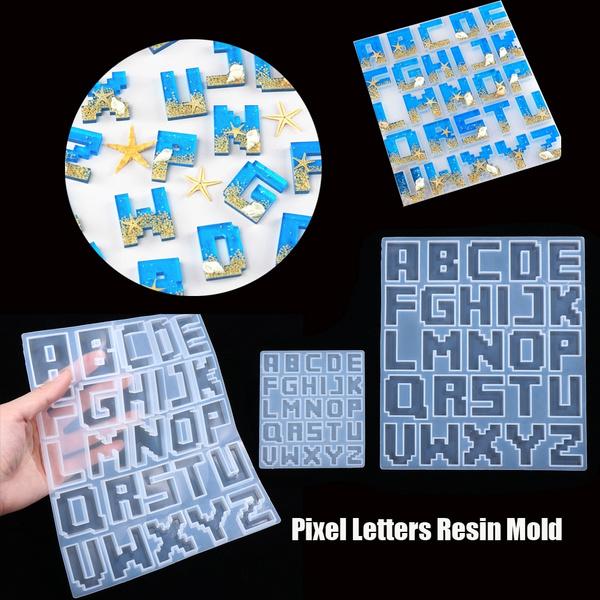 lettersmold, jewelrymakingtool, pixellettersmold, Key Chain