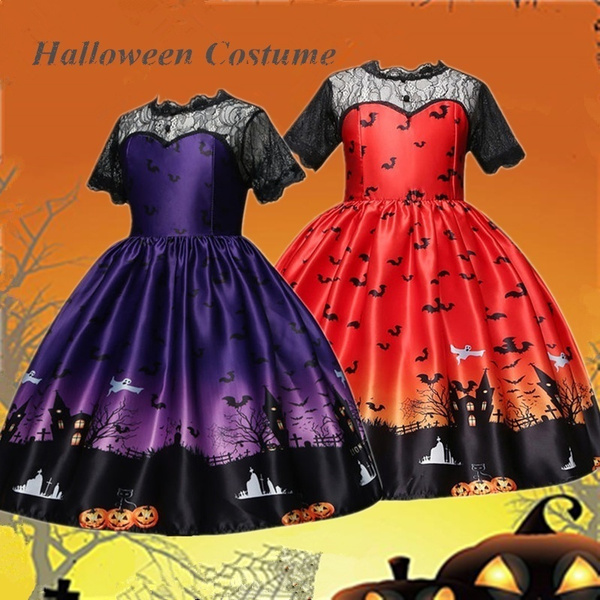 ghost, gowns, black lace dress, childrencarnivalcostume