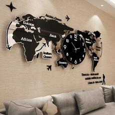 wallclockmodern, decoration, wallclockforlivingroom, worldmapwallclock