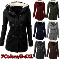 woolen coat, Plus Size, Outerwear, Gel