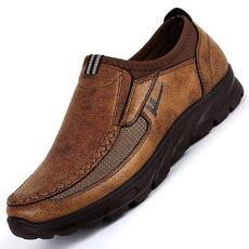 leather shoes, leather, roundtoeshoe, Men