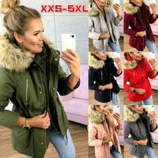 Plus Size, fur, Winter, jackets for girls