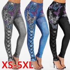 butterfly, womens jeans, Leggings, Plus Size
