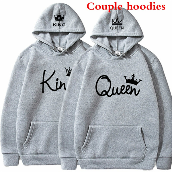 Couple Hoodies, King, Fashion, Funny