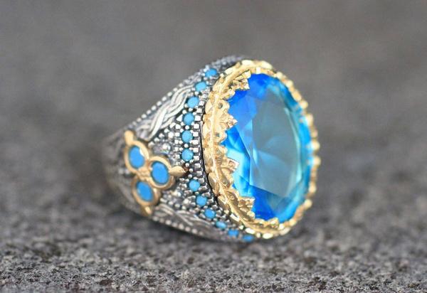 Sterling, Vintage, Engagement, wedding ring