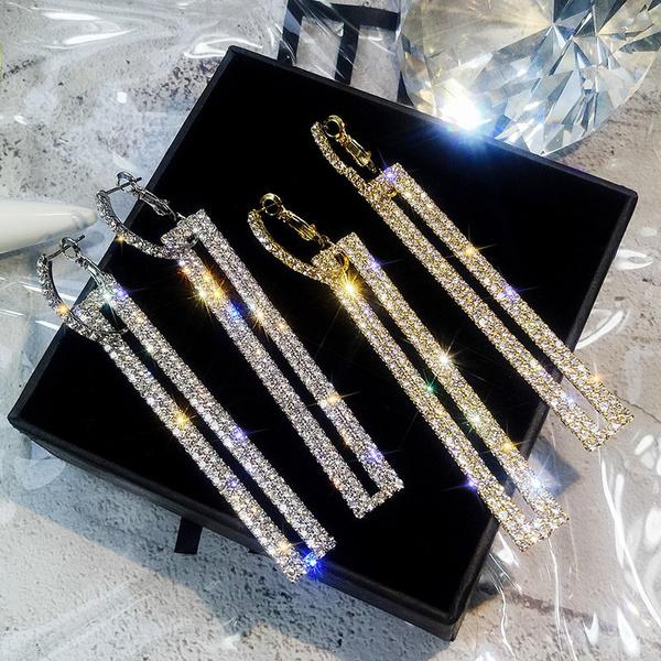Hoop Earring, Dangle Earring, Jewelry, Crystal