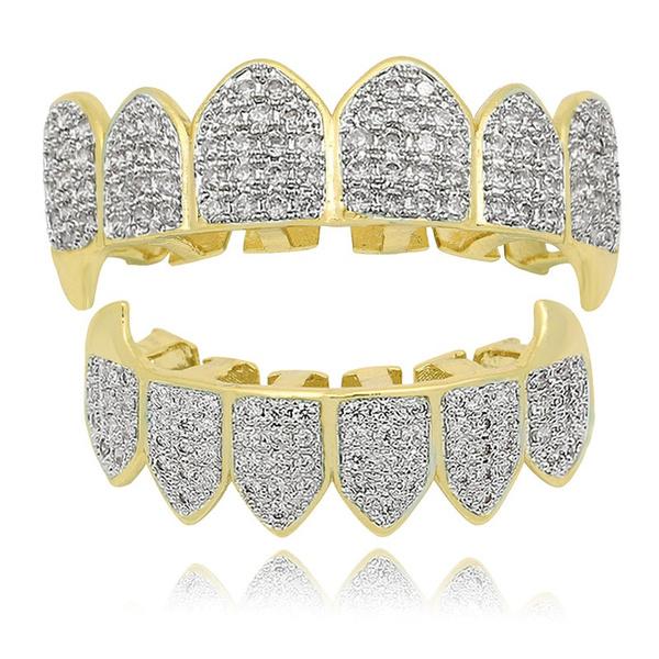 fangteeth, DIAMOND, fang, gold