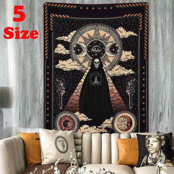 Decor, mandala, Star, skull