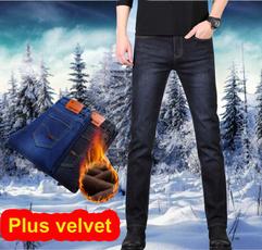men's jeans, trousers, velvet, Winter