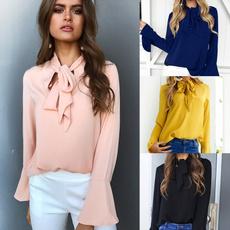 Fashion, shirtforwomen, Sleeve, chiffon