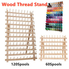 spoolholder, Wood, Wall Mount, embroiderykit