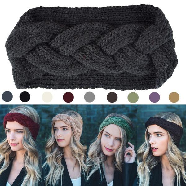 knitted, warmhairband, Fashion, headwear