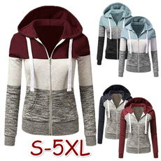 Hoodies, Plus Size, Colorful, Sleeve