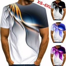 Mens T Shirt, Short Sleeve T-Shirt, Manga, Colorful