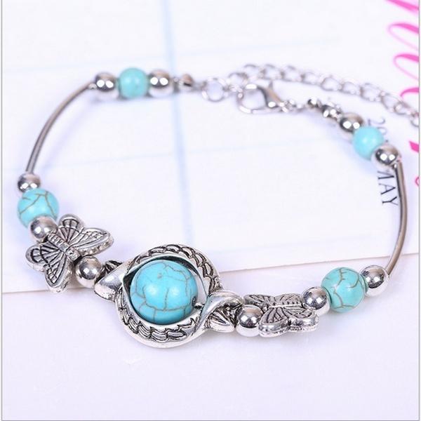 Charm Bracelet, Turquoise, Fashion, braceletampbeadssilver925