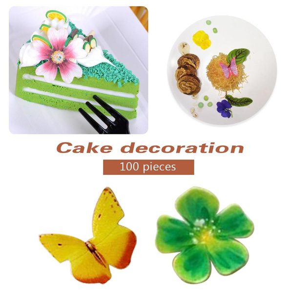 butterfly, decoration, Flowers, Baking