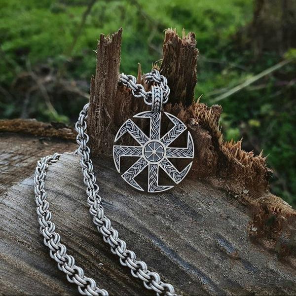 Steel, necklaces for men, Jewelry, vikingnecklace