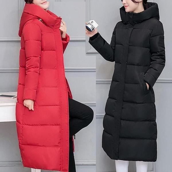 padded, Fashion, Hoodies, Long Coat