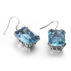 Sterling, vintage earrings, hookearring, Wedding
