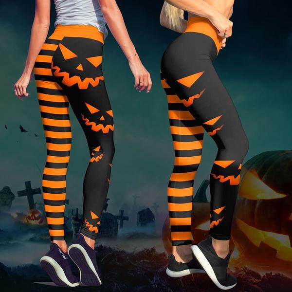 Fitness, pumpkinbat, Women Leggings, Halloween