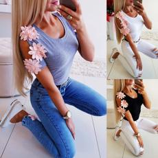 blouse, Summer, Flowers, Shirt