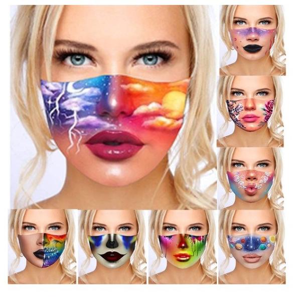 Funny, unisex, printedmask, Masks