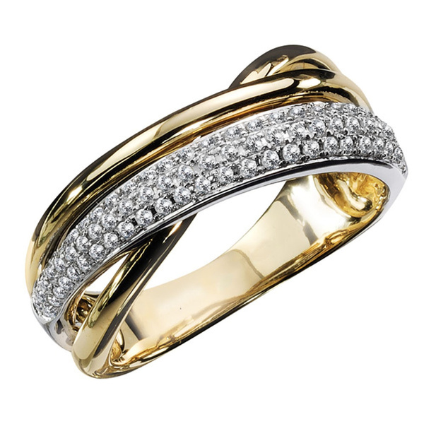 925 sterling silver, Ladies Fashion, gold, Silver Ring