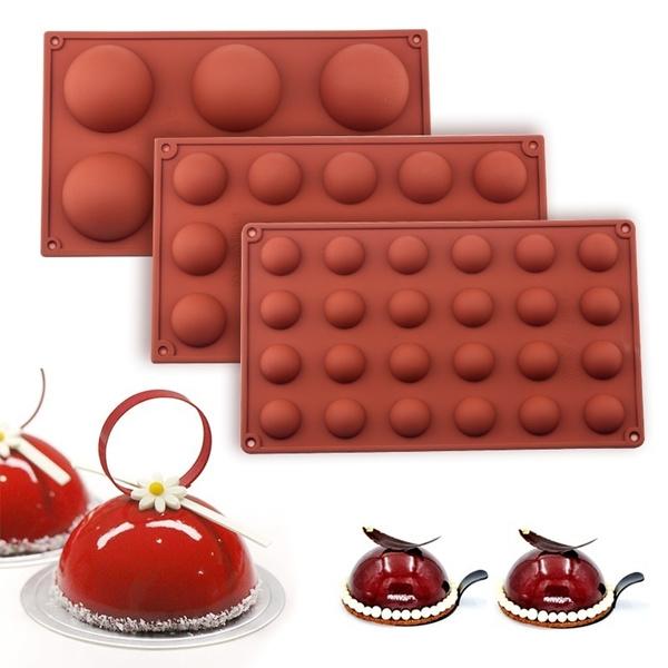 Baking, ballspheresiliconemold, chocolatemold, Silicone