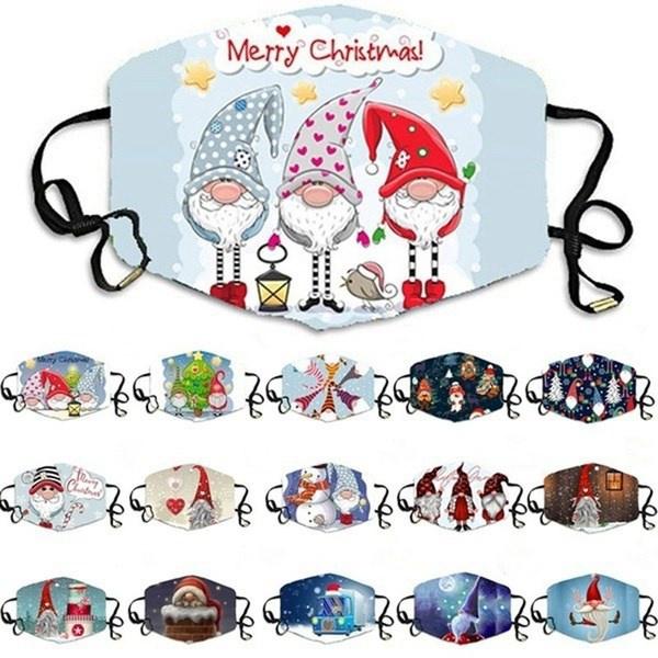 gnomiesfacemask, festivalmask, Christmas, unisex