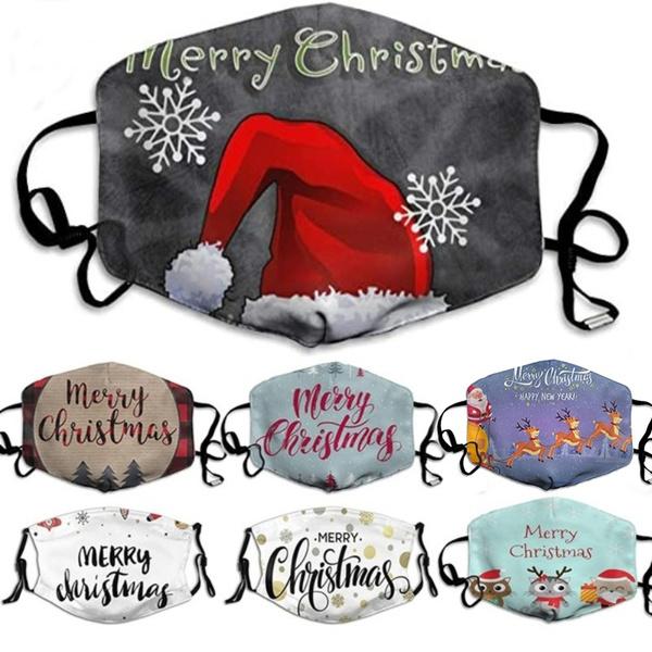Cotton, Outdoor, mouthmask, Christmas
