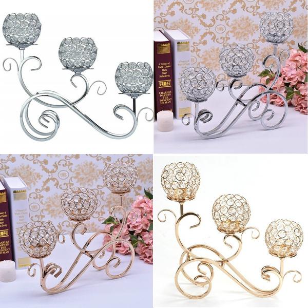 crystalcandleholder, Candleholders, weddingdecor, Home Decor