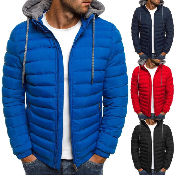 hooded, Winter, Coat, Men